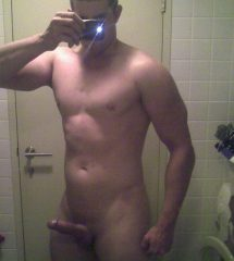 Hunky Guy Showing Off His Hard Cock