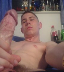 Nude Guy Taking Picture Of His Hard Cock