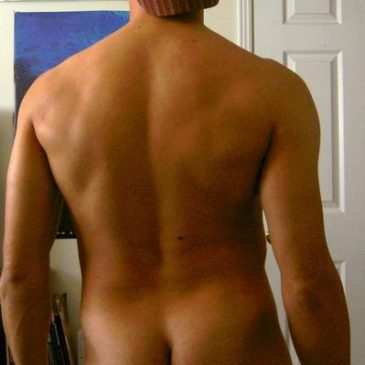 Naked Guy Show His Hot Back And Firm Ass