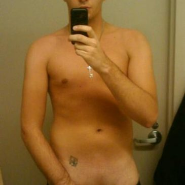 Cute Boy Holding His Hard Dick