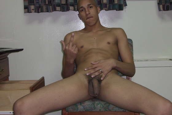 Horny Dude On Chair Massage Her Uncut Dick