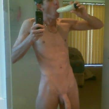Twink Took A Pic Of His Self Sucking A Dildo