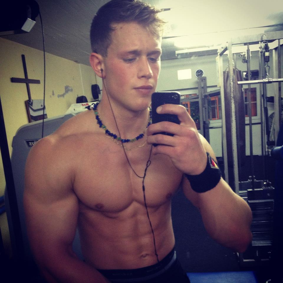Muscle Boy Taking Pics Of His Perfect Body