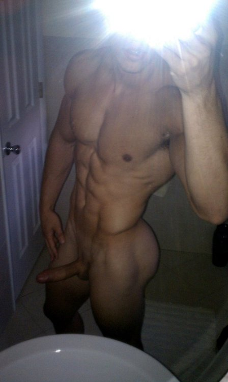 Nude Muscle Boy Showing Off His Perfect Body
