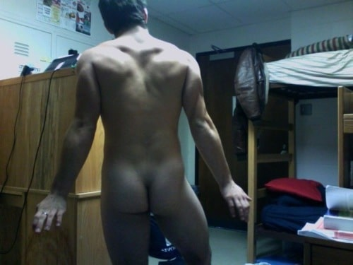 Nude Boy Showing Off His Ass